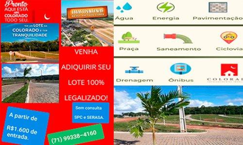[Vende-se Lotes em Camaçari a partir de R$379,00 ao mês.]