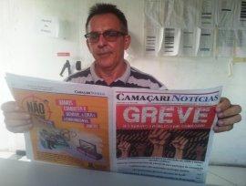 [Edição 175 do jornal Camaçari Notícias fala sobre a greve no serviço público]