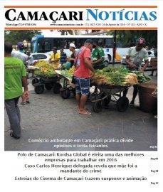 [Edição 181 do jornal impresso Camaçari Notícias traz matéria sobre ambulantes]