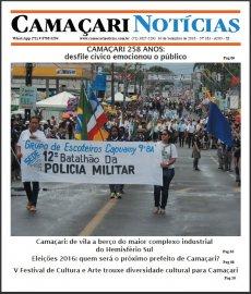 [Edição 183 do jornal impresso Camaçari Notícias faz homenagem ao aniversário da cidade]