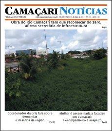 [Edição 191 do jornal impresso Camaçari Notícias destaca obra do Rio Camaçari]
