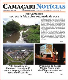[Secretária explica obra do Rio Camaçari na edição 205 do jornal impresso Camaçari Notícias]