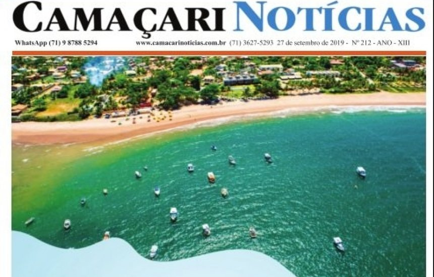 [Edição 212 do jornal impresso Camaçari Notícias homenageia município pelos 261 anos]