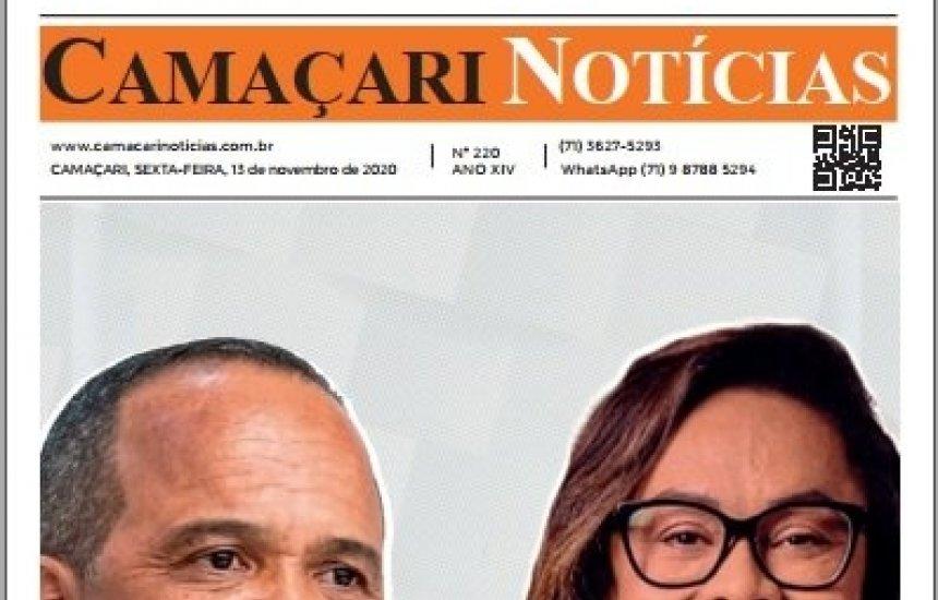 [Edição 220 do jornal impresso Camaçari Notícias destaca as eleições municipais]