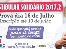 [FAMEC abre inscrições para Vestibular Solidário 2017.2]
