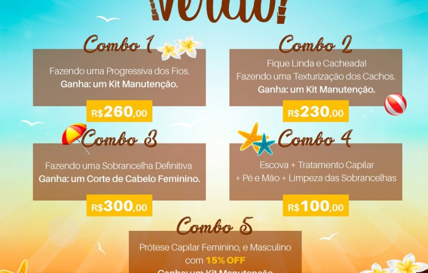 [Promoção de Verão Gilberto Cabeleireiro. Confira!]
