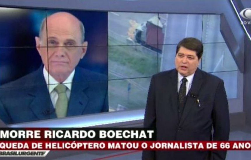 [Datena chora ao noticiar morte de Boechat ao vivo e relembra último encontro]
