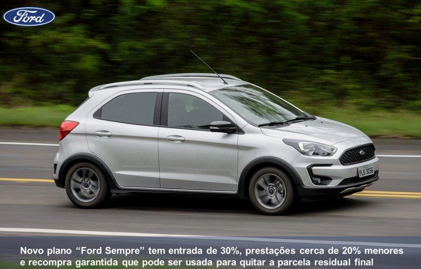[Ford lança plano de financiamento com entrada e prestações reduzidas]