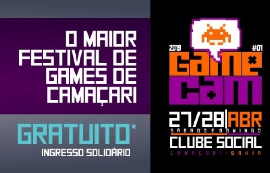 [GameCam: Camaçari recebe festival de games gratuito no final do mês]
