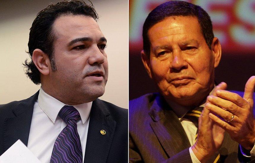 [Feliciano pede impeachment de Mourão após vice 'curtir' post crítico a Bolsonaro]