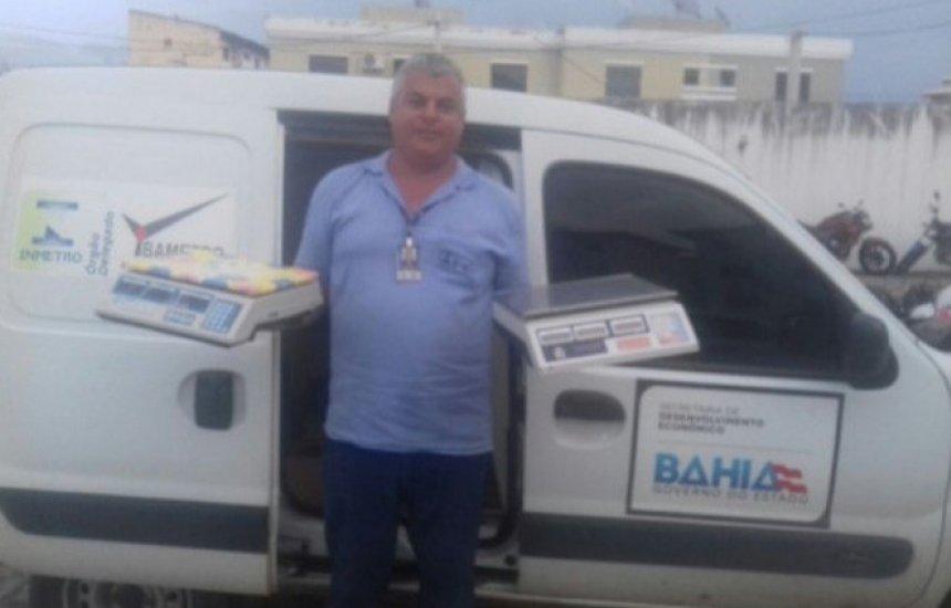 [Ibametro recolhe balanças de uso proibido no Brasil durante operação]