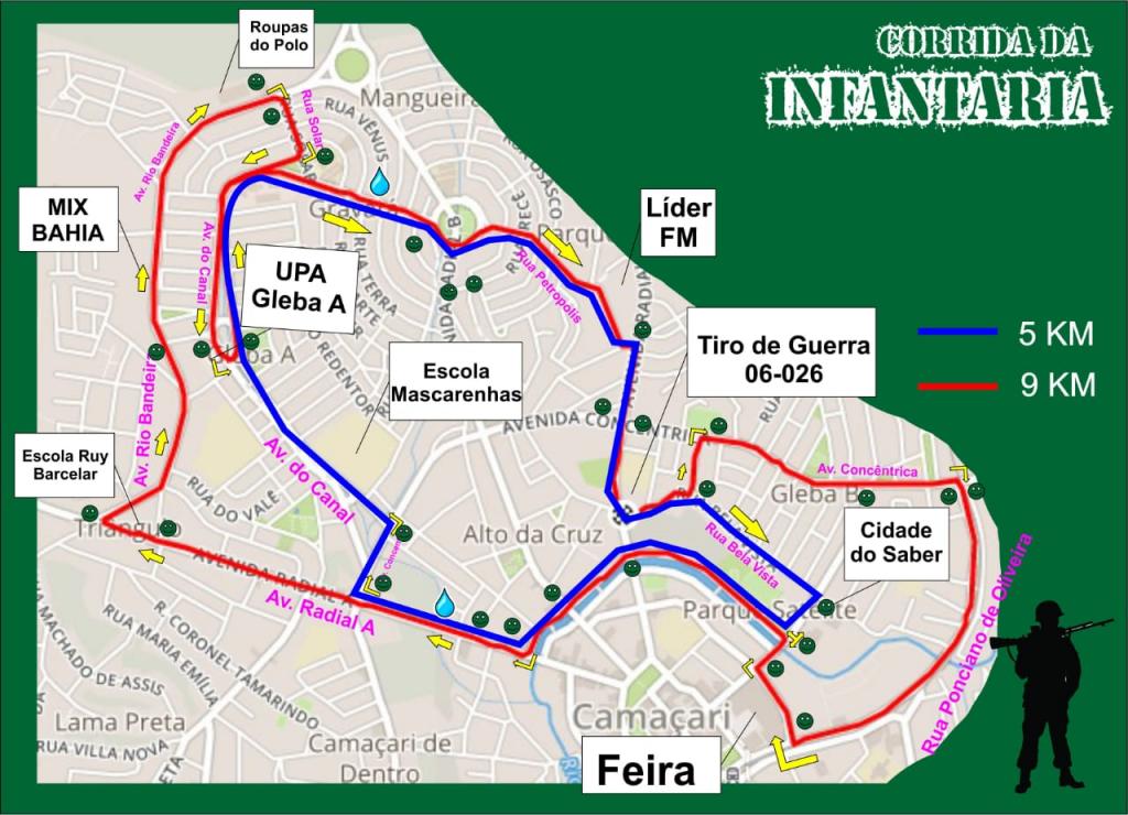 1ª Corrida da Infantaria acontece neste domingo em Camaçari 2