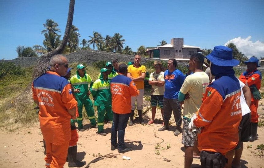 [Defesa Civil e Setur mantém ações de limpeza e monitoramento de praias]