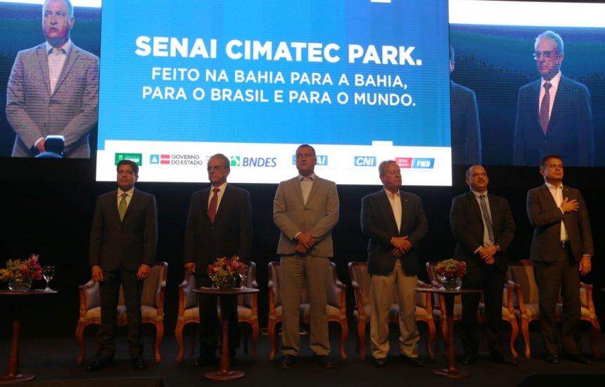 [Senai Cimatec Park é um salto rumo ao desenvolvimento, afirma governador Rui]