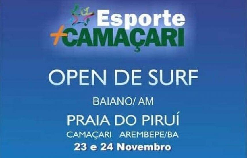 [Arembepe recebe Camaçari Open de Surf neste fim de semana]