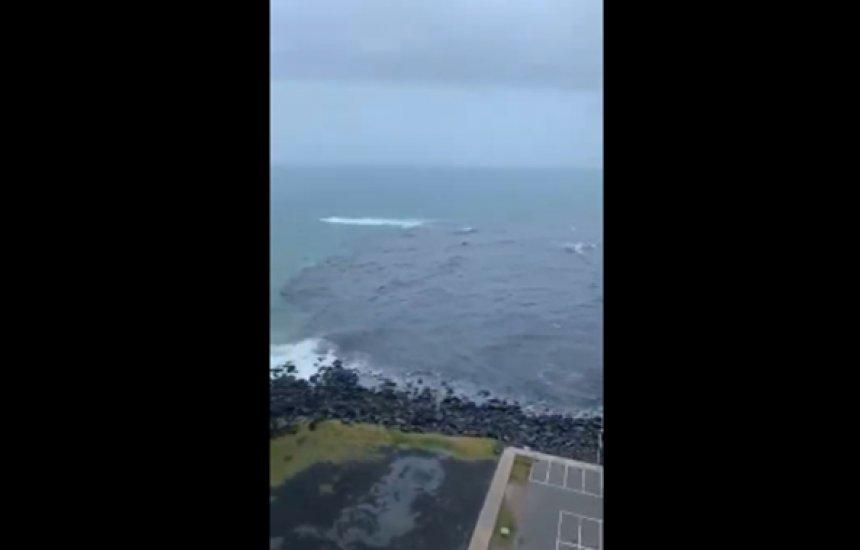 [Vídeo: Mau tempo faz esgoto transbordar e invadir mar do Rio Vermelho]