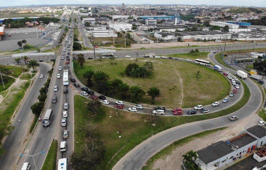 [Bahia Norte bloqueia Viaduto do Trabalhador na manhã deste domingo]