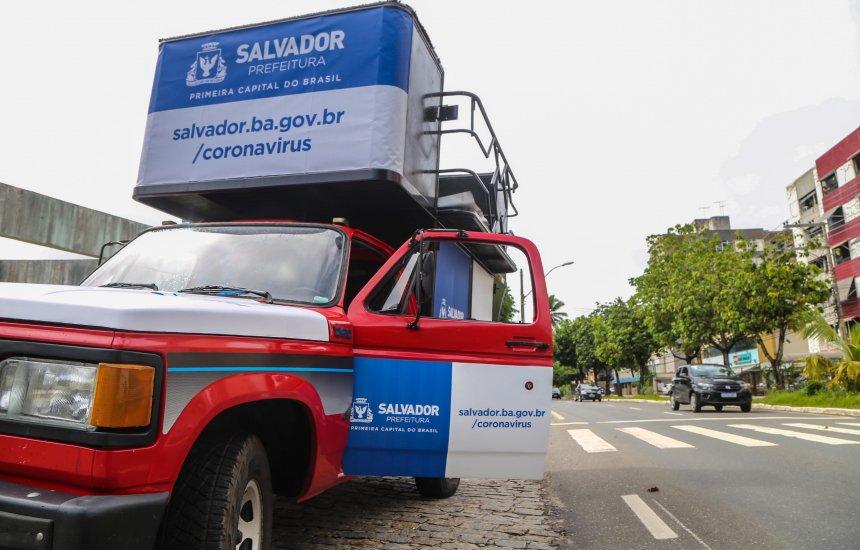 [Prefeitura de Salvador realiza campanha para conscientizar população sobre coronavírus]