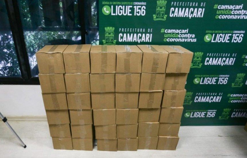 [Álcool em gel doado para a prefeitura reforçará estoque das unidades médicas de Camaçari]