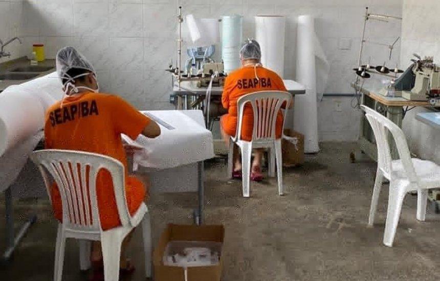 [Detentos baianos já produziram mais de 8,3 mil máscaras para profissionais de saúde]