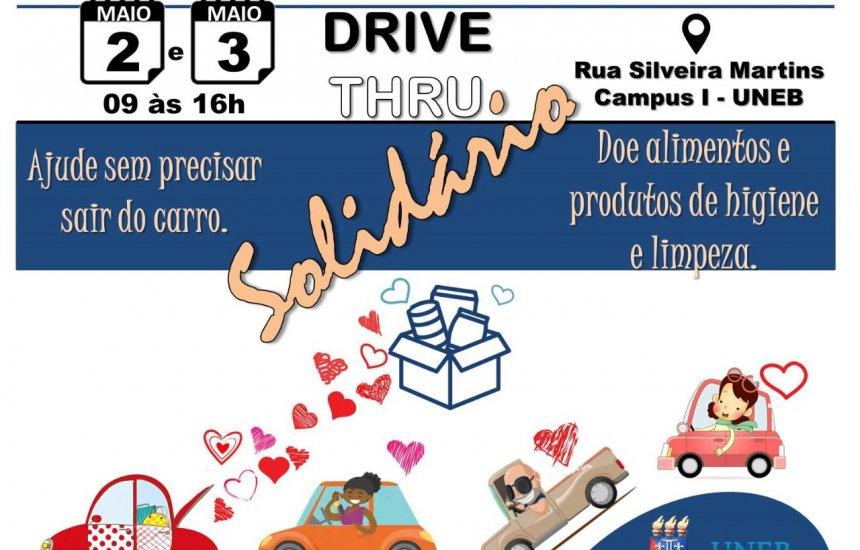 [Projeto da UNEB recebe doações em Drive Thru Solidário neste fim de semana]