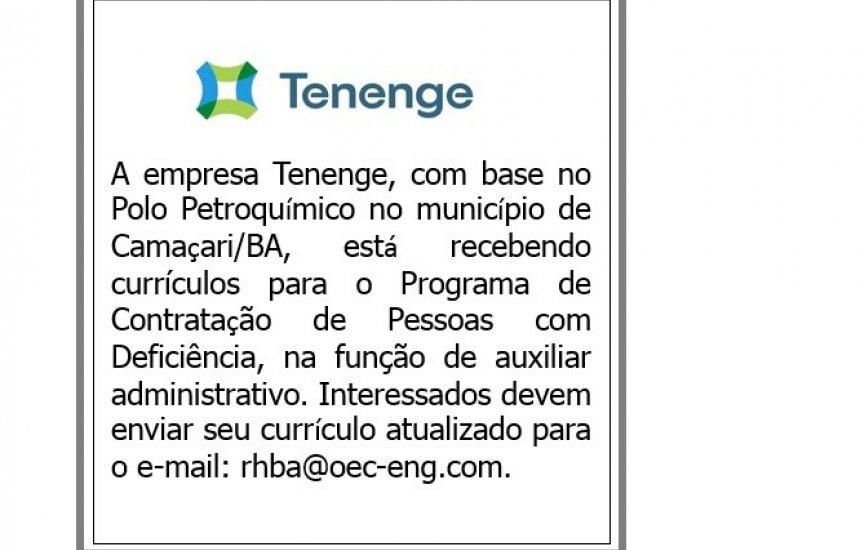 [Empresa Tenenge recebe currículos de pessoas com deficiência]