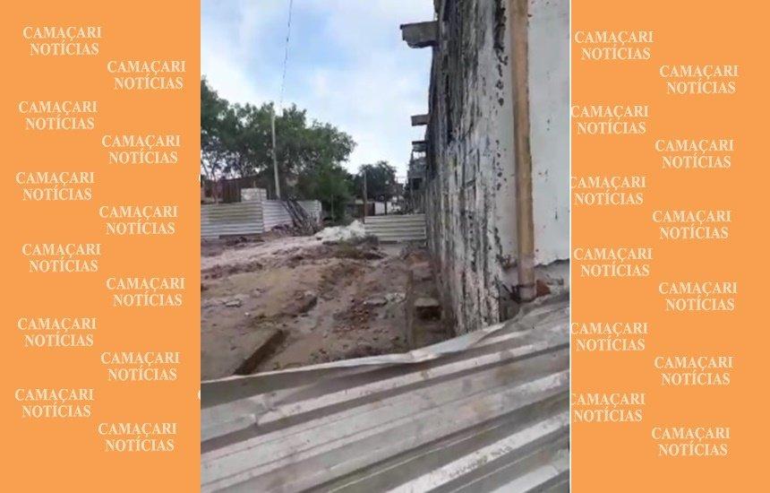 [Morador reclama de obra parada e bloqueio entre Nova Vitória e Bomba]