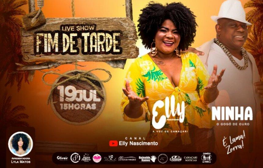 [Elly Nascimento fará Live Show dia (19/07)]