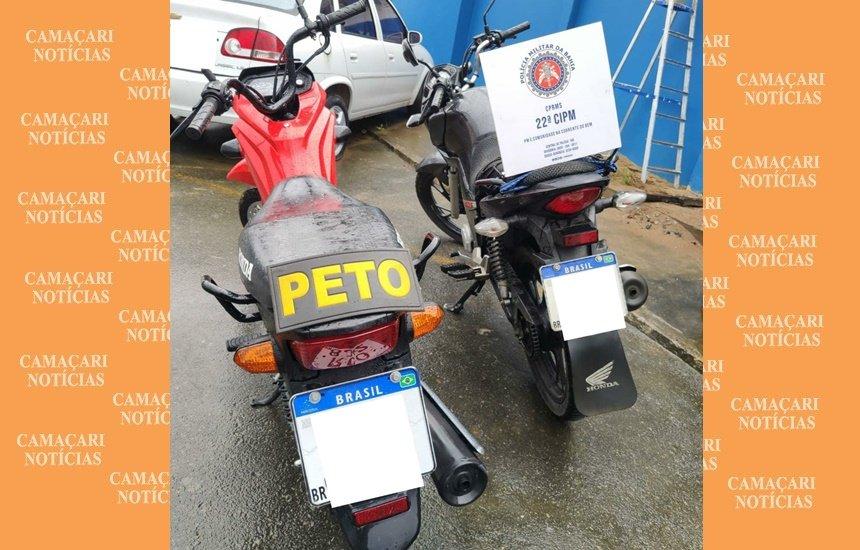 Polícia Militar recupera duas motos em Simões Filho
