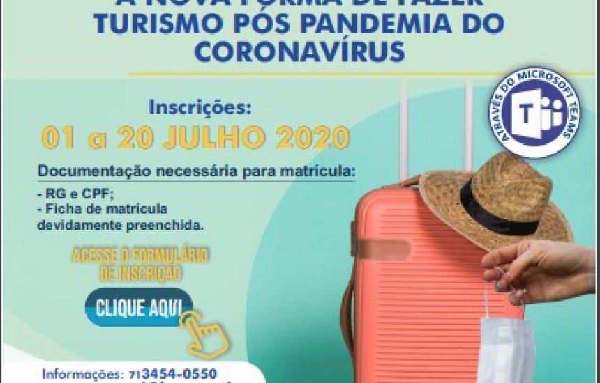 [SENAC promove I Ciclo de Palestras: A Nova Forma de Fazer Turismo Pós Pandemia do Coronavírus]