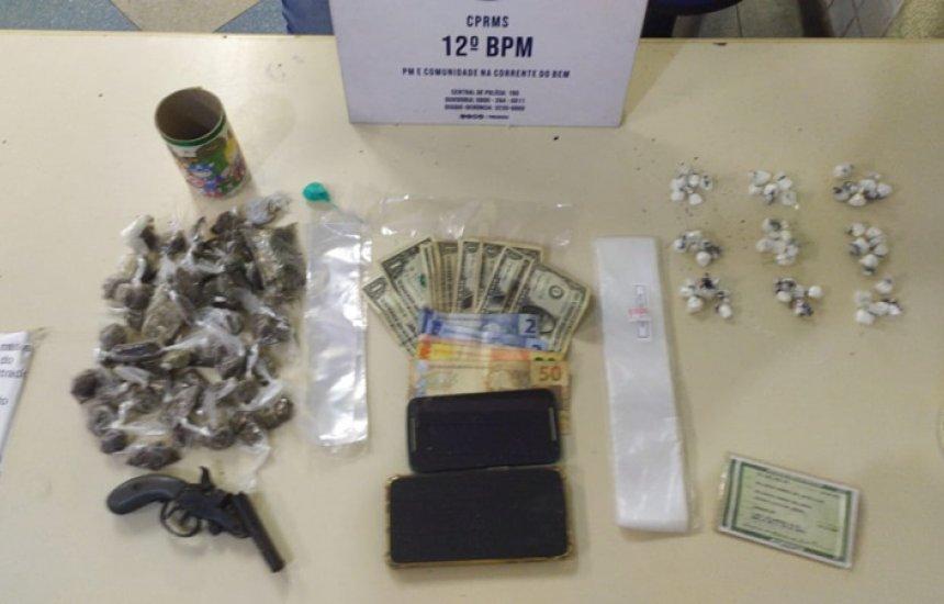 [Dois homens são presos por tráfico de drogas e porte ilegal de arma na Lama Preta]