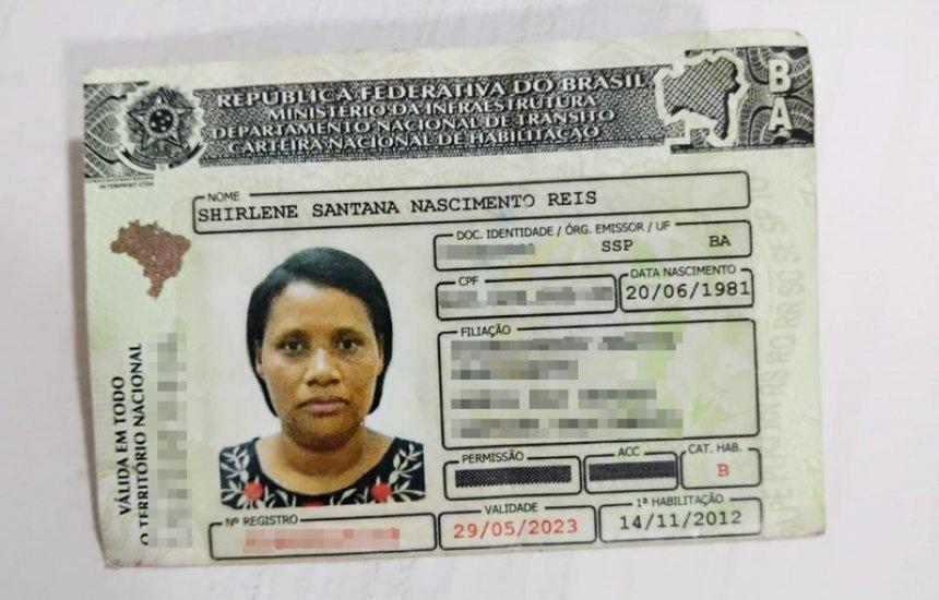 [Utilidade pública: CNH de Shirlene Santana Nascimento Reis é encontrada]