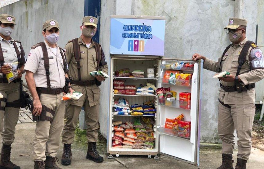 [Polícia Militar instala geladeira comunitária no Phoc II]