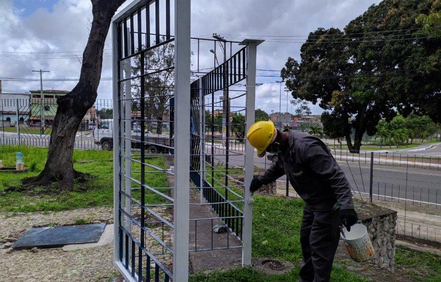 [Câmara Municipal de Camaçari passa por obras de correção em sua estrutura]