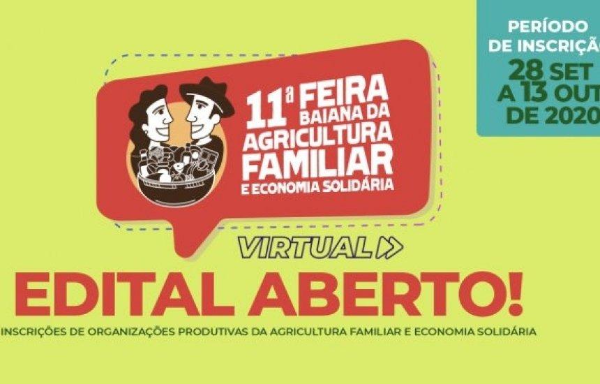 [11ª Feira Baiana da Agricultura Familiar e Economia Solidária está com inscrições abertas até esta terça]