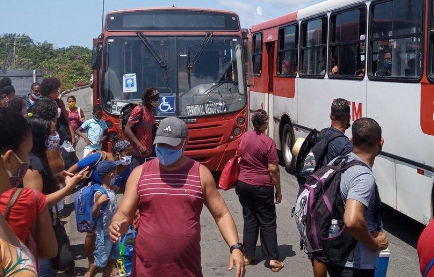 [Leitor reclama de condições precárias em transporte da linha Estação do Metrô Aeroporto x Arembepe]