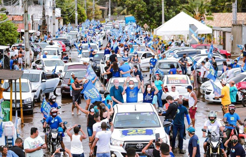 Elinaldo Araújo consolida preferência da população em sua 2ª carreata