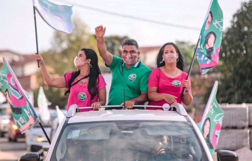 Candidato a prefeito, Oziel Araújo promove carreata por bairros de Camaçari