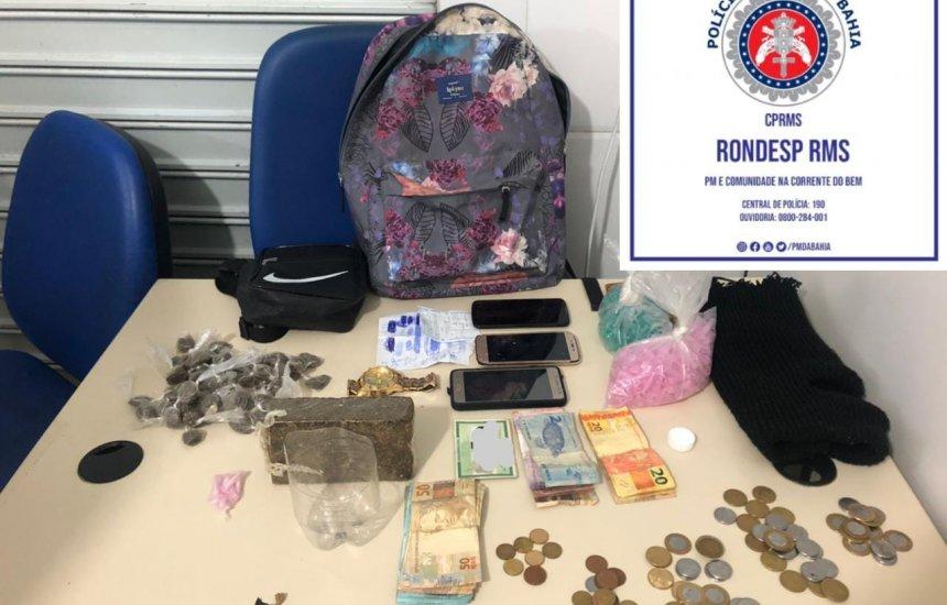 [Adolescente suspeito de participar de cinco homicídios é apreendido com drogas em Camaçari]
