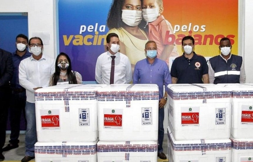 Bahia vai receber mais 56 mil doses da vacina Coronavac nesta segunda