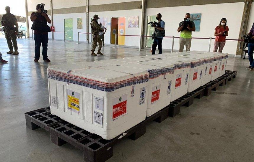 [Bahia recebe nova remessa de vacinas contra a Covid-19]