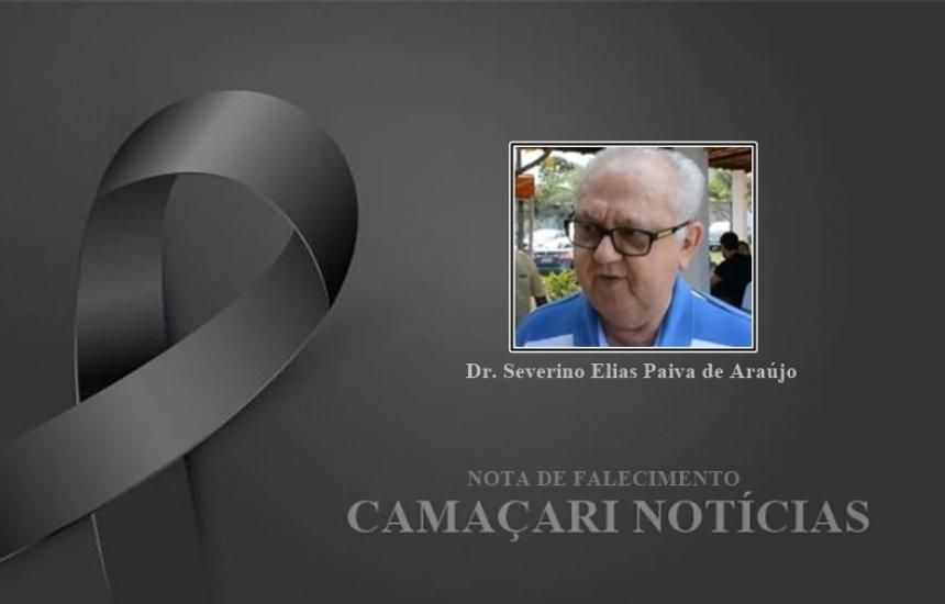 [Nota de Pesar: Dr. Severino Elias morre após complicações da Covid-19]