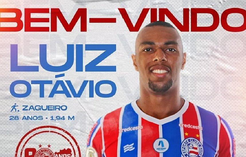 [Bahia oficializa a contratação do zagueiro Luiz Otávio, ex-Chape]