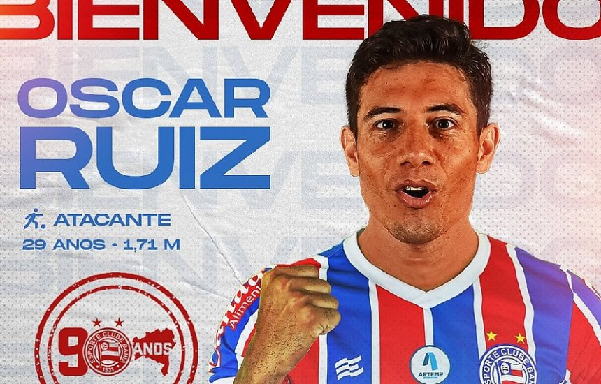 [Bahia oficializa contratação do atacante paraguaio Oscar Ruiz]