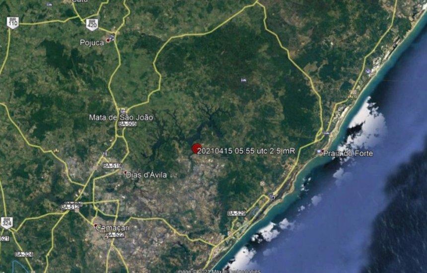 [Tremor de terra é registrado no município de Dias D'Ávila]