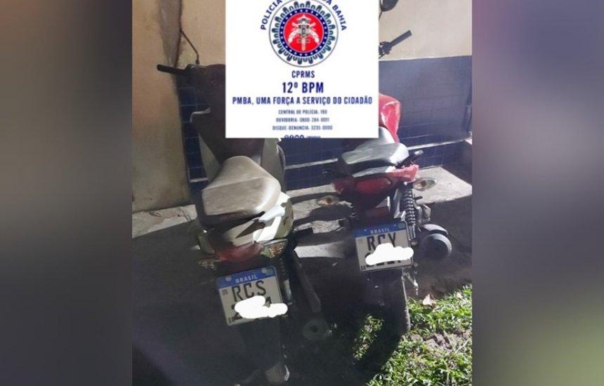 [Gleba E: polícia recupera duas motos com restrição de roubo]