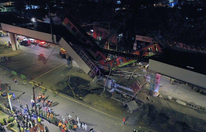 [Trem do metrô da Cidade do México cai em avenida e deixa dezenas de mortos e feridos]