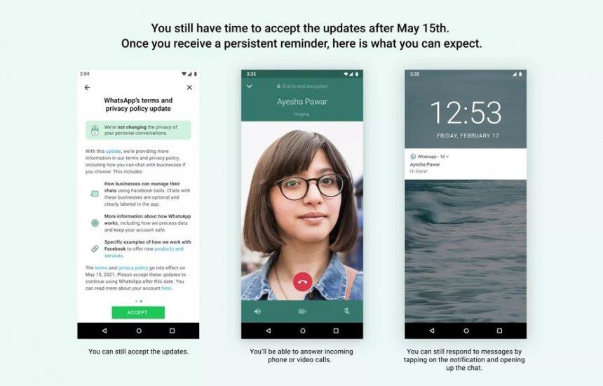 [WhatsApp vai limitar funções de contas que não aceitarem novas regras]