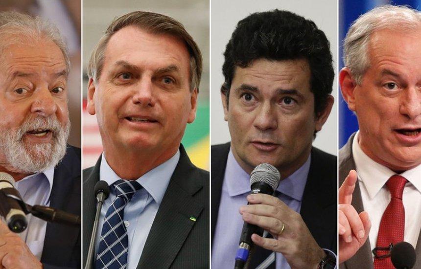 [Lula tem 41%; Bolsonaro, 23%; Moro, 7%; e Ciro, 6% no 1º turno, aponta pesquisa Datafolha para a eleição de 2022]