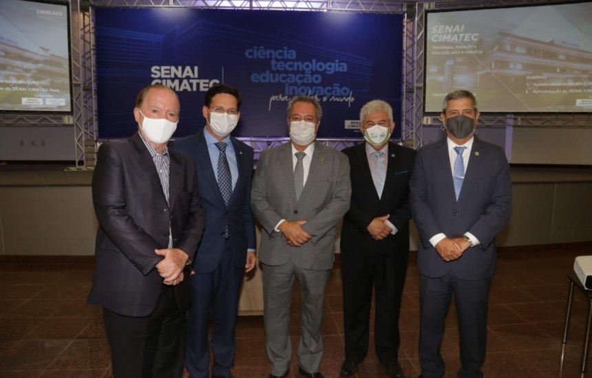 Ministros da Defesa, Ciência, Tecnologia e Inovação e da Cidadania visitam instalações do SENAI CIMATEC
